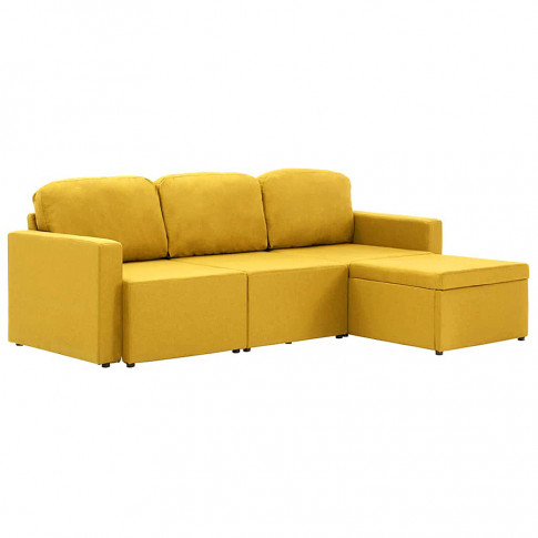 rozkladana modulowa sofa lampara4q zolta tkanina