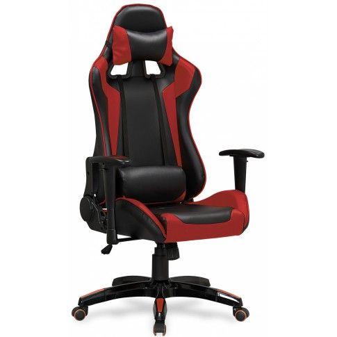 Zdjęcie produktu Fotel obrotowy z regulowanym oparciem Menger - czerwony.