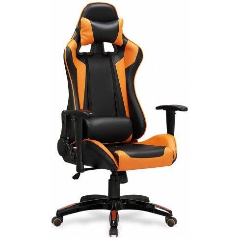 Zdjęcie produktu Fotel obrotowy z regulacją oparcia Menger - pomarańczowy.