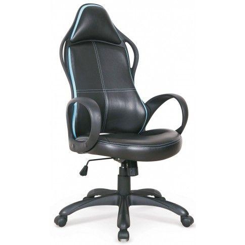 Zdjęcie produktu Fotel obrotowy Arlen - czarno-niebieski.