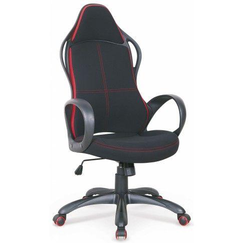 Zdjęcie produktu Fotel obrotowy Arlen - czarno-czerwony.