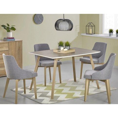 Zdjęcie produktu Drewniany stół Petris - dąb sonoma.