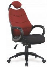 Fotel obrotowy Lefter - bordowy