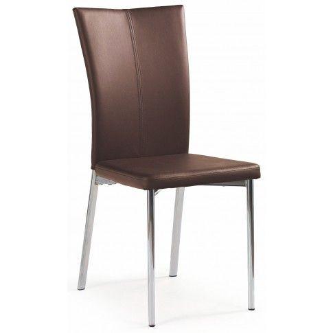 Zdjęcie produktu Krzesło metalowe Sybis - brązowe.