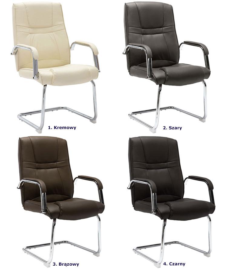 Warianty kolorystyczne fotela konferencyjnego Glomer 2X