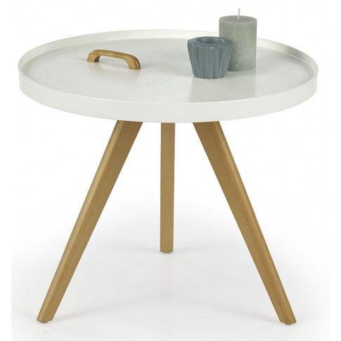 Zdjęcie produktu Okrągły stolik kawowy Sisi - biały połysk.