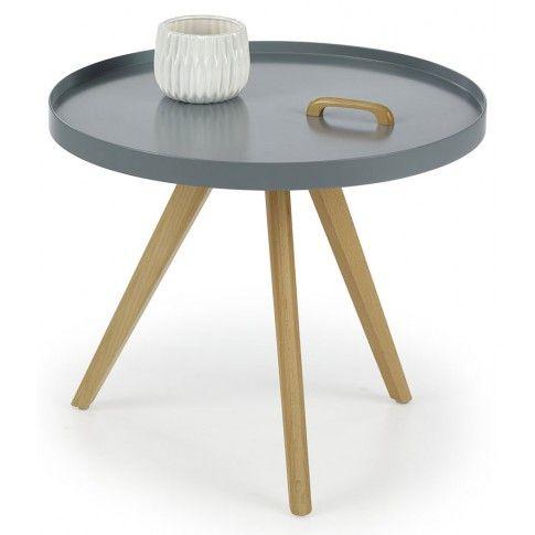 Zdjęcie produktu Skandynawski stolik kawowy Sisi - popiel połysk.