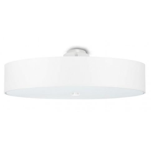 Biały okrągły plafon LED z abażurem EX663-Skalo