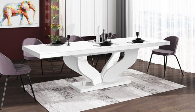 Rozkładany stół biały - Tutto
