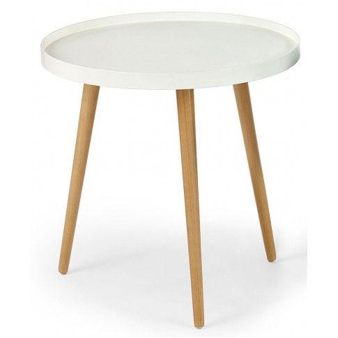 Zdjęcie produktu Okrągły stolik kawowy Pixi - biały połysk.