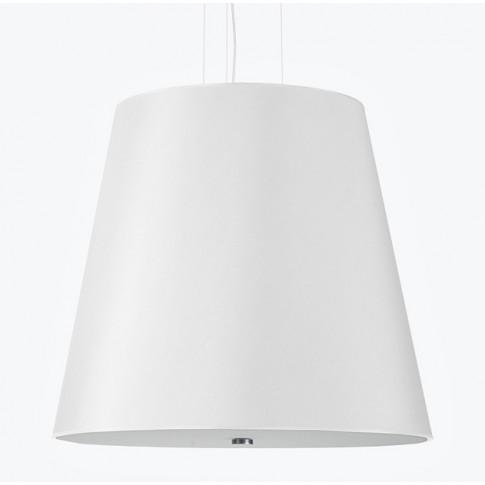 Biały minimalistyczny żyrandol z abażurem EX669-Genevo