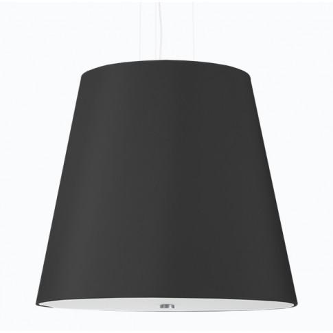 Czarny minimalistyczny żyrandol z abażurem EX669-Genevo