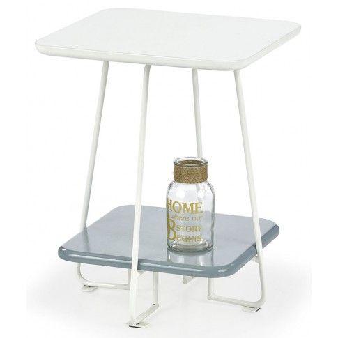 Zdjęcie produktu Kwadratowy stolik kawowy Tibia - biały.