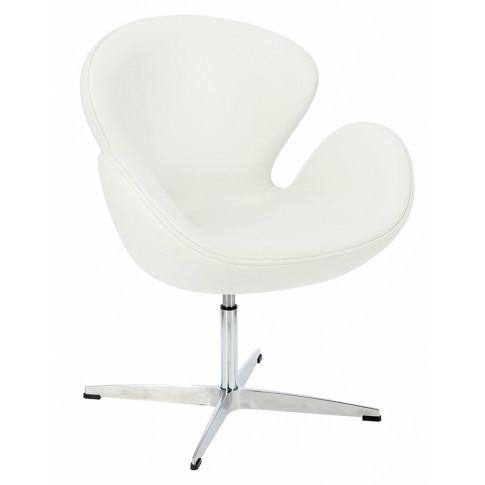 Biały fotel do salonu Loco 3X modny