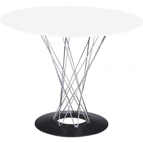 Biały stół okrągły Arrao designerski