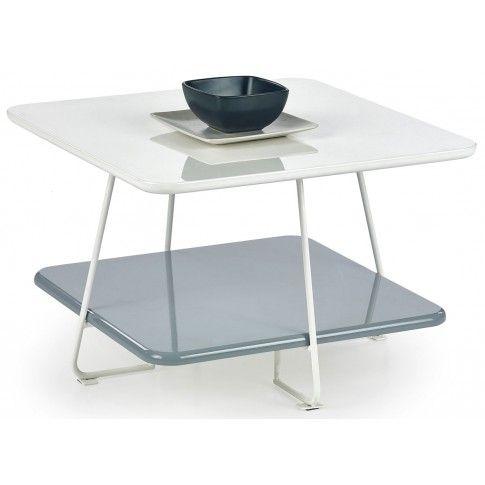Zdjęcie produktu Kwadratowy stolik kawowy Tibia 2X - biały.