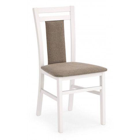 Zdjęcie produktu Drewniane krzesło tapicerowane Thomas - Białe.