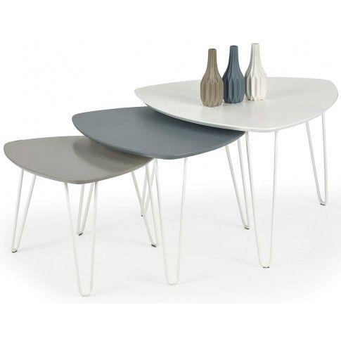 Zdjęcie produktu Zestaw 3 ław minimalistycznych Brenda.