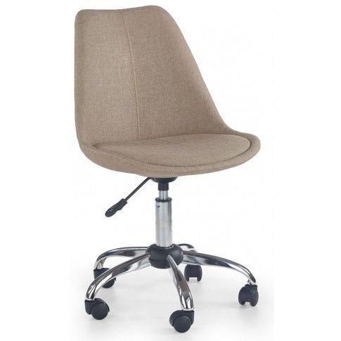 Zdjęcie produktu Fotel obrotowy dla ucznia Raxan - beżowy.