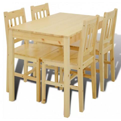 Drewniany zestaw stół i 4 krzesła – Ellen