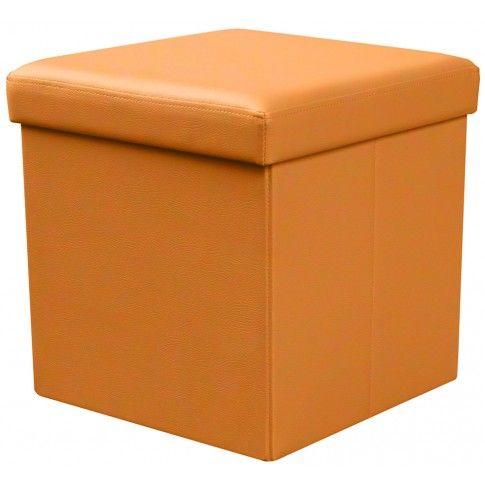 Zdjęcie produktu Otwierana pufa Lori - pomarańczowa.