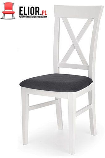 Białe krzesło do jadalni Fiton
