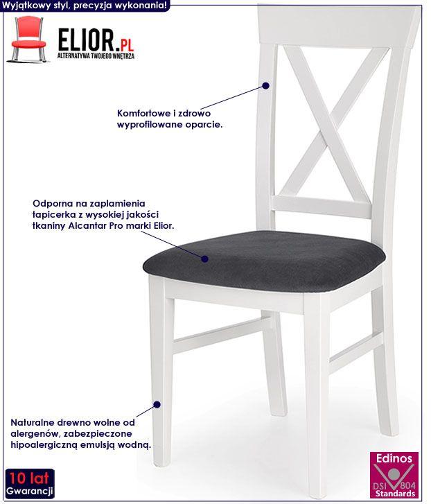 Skandynawskie białe krzesło Fiton
