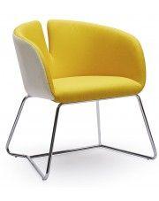 Fotel wypoczynkowy Milton - żółty w sklepie Edinos.pl