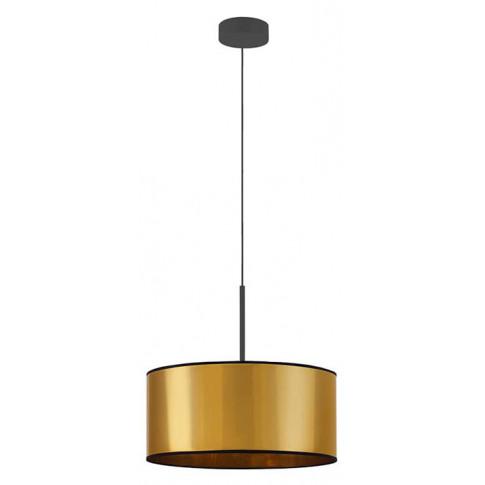 Złoty żyrandol z okrągłym abażurem EX871-Sintrev