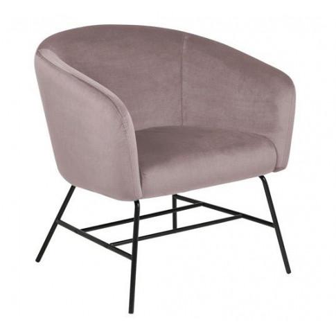 Różowy fotel Nerra 2X
