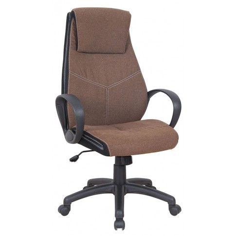 Zdjęcie produktu Fotel obrotowy Aaron - brązowy.