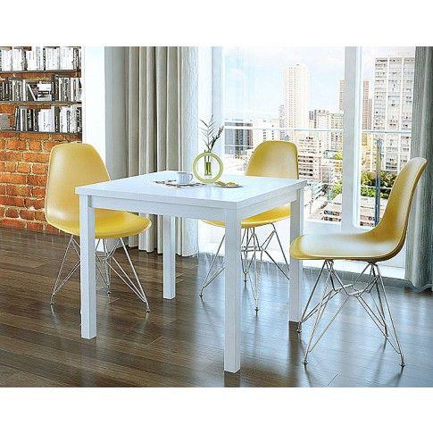 Zdjęcie produktu Kwadratowy rozkładany stół kuchenny Cubires - biały.
