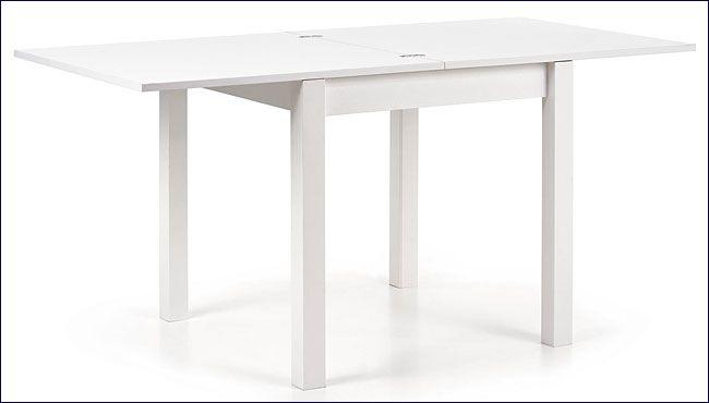 Rozkładany stół kwadratowy biały Cubires