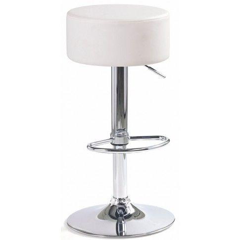 Zdjęcie produktu Okrągły hoker bez oparcia Enton - biały.
