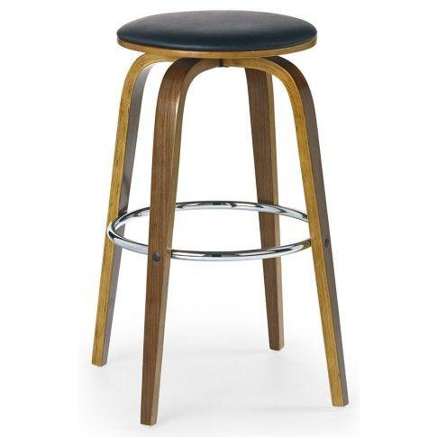 Zdjęcie produktu Drewniany hoker okrągły Lester - orzech.