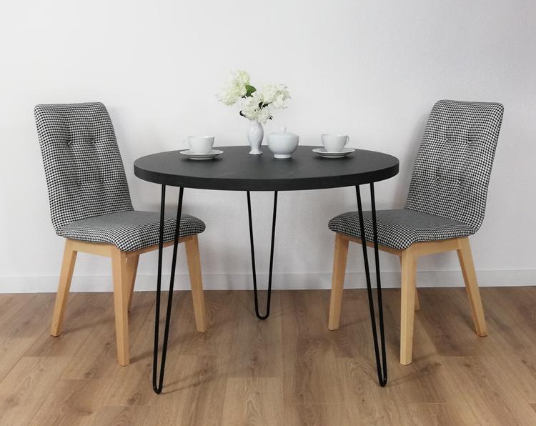 Wizualizacja wnętrza z okrągłym stolikiem kawowym Asta