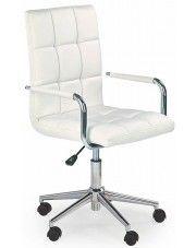 Pikowany fotel dla ucznia Amber 2X - biały w sklepie Edinos.pl