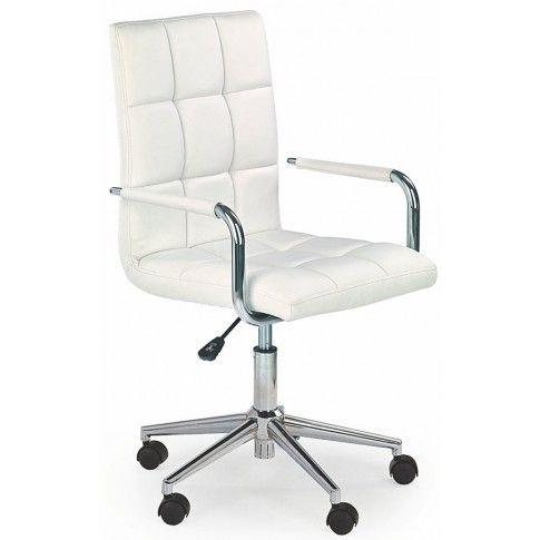 Zdjęcie produktu Pikowany fotel dla ucznia Amber 2X - biały.