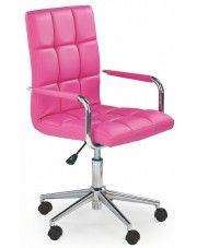 Obrotowy fotel dla dziewczynki Amber 2X - różowy