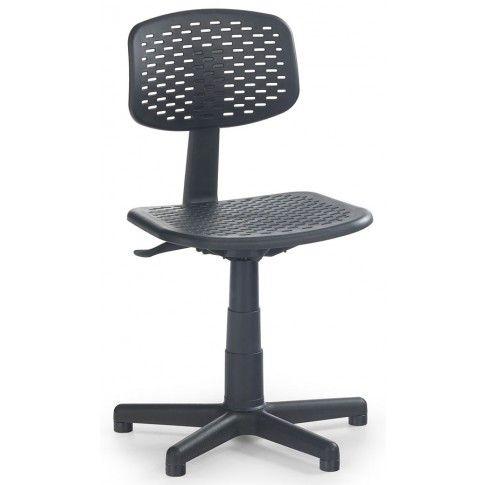 Zdjęcie produktu Dziecięcy fotel obrotowy Alvin - czarny.