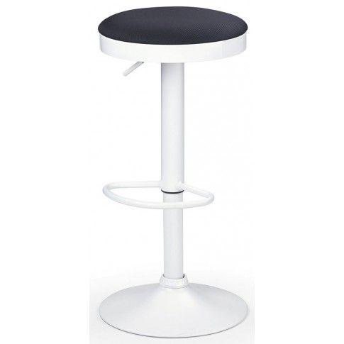 Zdjęcie produktu Okrągły hoker obrotowy Filin - biały połysk.