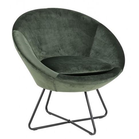 Zielony fotel Lorum do salonu