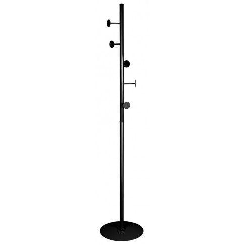 Zdjęcie produktu Podłogowy wieszak stojący Arlen 7X - czarny.