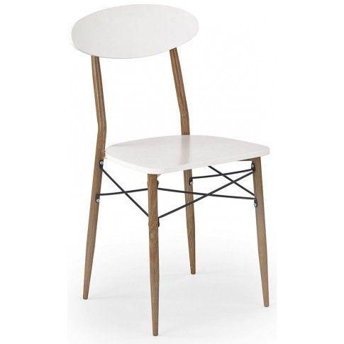 Zdjęcie produktu Minimalistyczne krzesło Hader - białe.