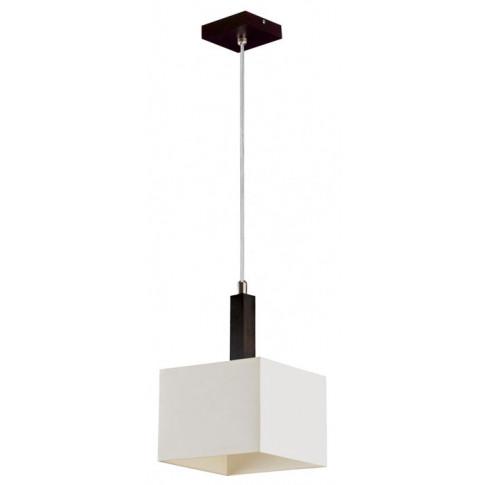Drewniana lampa wisząca z kwadratowym abażurem EXX120-Karmes