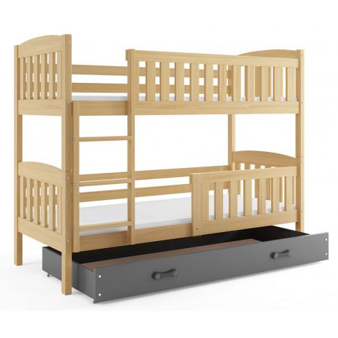 Drewniane łóżko piętrowe Celinda