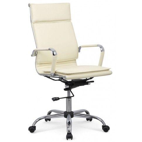 Zdjęcie produktu Fotel obrotowy Parker - kremowy.