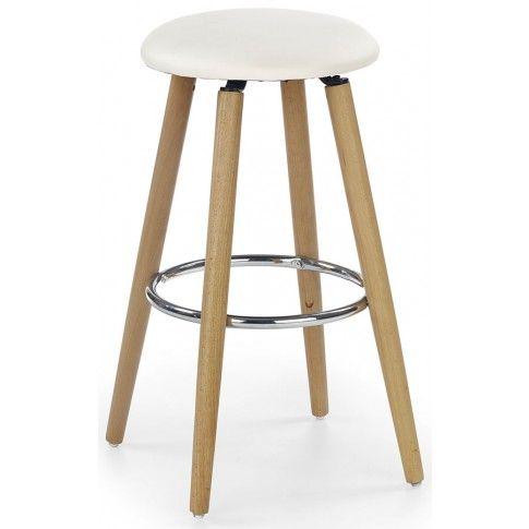 Zdjęcie produktu Drewniany hoker okrągły Milax - kremowy.