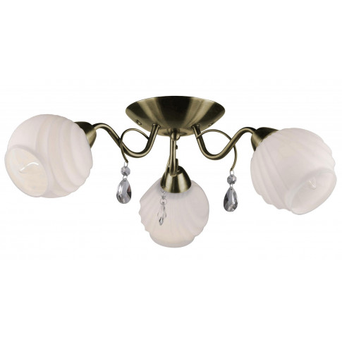 Klasyczny złoty żyrandol z kryształkami EXX179-Idosa