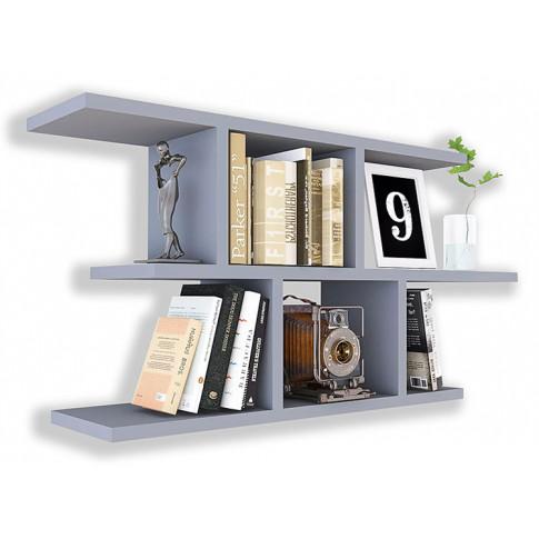 Szara nowoczesna półka minimalistyczna ścienna Meggi